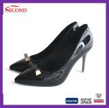 Black Shiny Pointed Women Mode Shoes