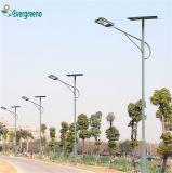 nueva luz de calle separada de la eficacia alta del diseño 80W solar con el OEM de poste aceptable