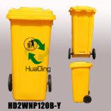 balde do lixo de borracha plástico da roda do escaninho de lixo 120L para HD2wnp120b-Y ao ar livre