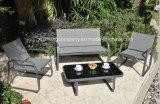 Table+ChairsによってセットされるAluminum+の鋼鉄4PCS家具