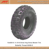 Neumático sin tubo del soplador de nieve del cerdo de la nieve 4ply de la mariposa 13X500-6 4.10-6