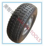 Roda de borracha Semi pneumática 10*3.3 do trole do carro de 10 polegadas