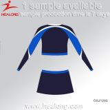 De Healong del poliester tinte 100% completamente sublimado más el uniforme del Cheerleading de la talla