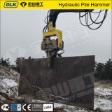 Marteau de poteau à marteau vibratoire à hydraulique monté sur excavatrice de haute qualité