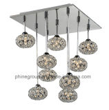 Phine Gruppen-Decken-Lampe mit Kristallfarbton PC-0019