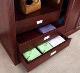 أثينا كلاسيكيّة أسلوب غرفة نوم أثاث لازم خزانة ثوب أحمر [شري] مع مرآة ([ك01-06])