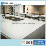 Pedra artificial branca de mármore de quartzo para a bancada da cozinha