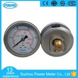 indicateur de pression rempli par glycérine axiale d'acier inoxydable de support de 2 '' 50mm