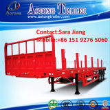 Side Wallの2*20ft Contailer Chassis/40ft Flatbed Trailer