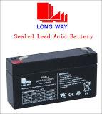 bateria acidificada ao chumbo recarregável selada 6V1.2ah/20hr