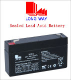 batteria al piombo ricaricabile sigillata 6V1.2ah/20hr