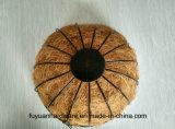 Cesta colgante de acero revestida del polvo con la tela del coco para la flor