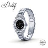 Swarovskiによって引き締められる水晶腕時計からの運命の宝石類の水晶