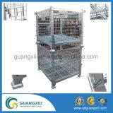 Tipo d'attaccatura contenitore del metallo superiore della rete metallica con le rotelle