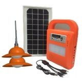Наборы осветительной установки дома СИД новой конструкции солнечные с игроком MP3 FM Radio SD