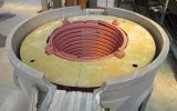 Fornalha elétrica da indução de uma freqüência média de 5 toneladas