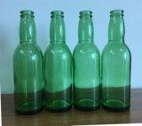 Botella de cristal de la bebida del color verde/botella de cristal de la bebida