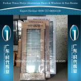 Алюминиевые двери Casement с цветом золотистого цвета цвета Шампань деревянным