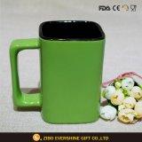 De vierkante Ceramische Bevordering van de Mok van de Koffie