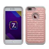 iPhone 7 аргументы за телефона диаманта PC+Silicone гибридное добавочное