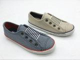 男の子(ET-LH160267K)のためのローカットの伸縮性がある子供のズック靴