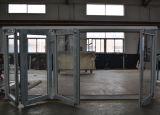 Puerta de plegamiento termal de los marcos del aluminio 4 de la rotura de la alta calidad Kz131