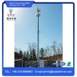 Torre de acero tubular galvanizada de la telecomunicación de postes de la INMERSIÓN caliente
