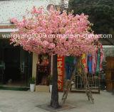 Peça central falsificada artificial cor-de-rosa popular da árvore de Sakura