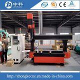 Ferramenta automática Chang de 5 linhas centrais 12 partes do router de madeira do CNC dos cortadores