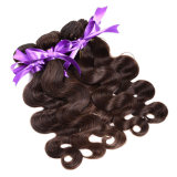 L'onda peruviana del corpo dei capelli del Virgin 3 gruppi dei capelli umani non trattati tesse il trasporto libero di colore 1b# dell'onda peruviana poco costosa naturale del corpo