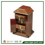Коробка ювелирных изделий роскошного высокого лоснистого лака высокого качества деревянная