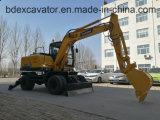Mini excavatrice Bd80, Bd95 de roue de Baoding d'excavatrices à vendre en stock
