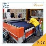 中国の製造者ファブリックか布またはおもちゃまたはホーム織物の自動挿入ファブリックセリウムの証明書が付いている革衣服レーザーの打抜き機