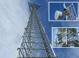 de 20m Gegalvaniseerde Driehoekige Toren van de Telecommunicatie van het Staal van het Rooster