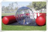 Combinación inflable del juego de bola de bowling de bola que recorre del agua