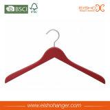 옷 (WL8003A)를 위한 빨간 페인트 목제 걸이