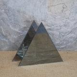 2017 Qualitäts-handgemachtes Abstand-Dreieck-Glaskerze-Halter mit Spiegel-Rückseite