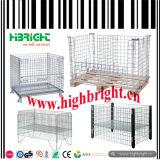 Cage empilable de mémoire de maille lourde de fil d'acier