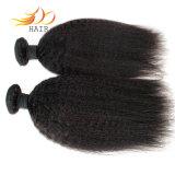 Tabgle自由な取除く自由なねじれたまっすぐに100%のインド人のバージンの毛の織り方