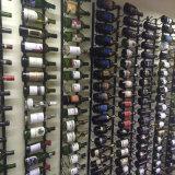 Puder-Beschichtung-Eisen-anstreichende an der Wand befestigte Wein-Zahnstange, Kapazität 9-Bottle