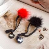 Кристаллический акриловый кот очаровывает эластик Hairband шарика POM Poms