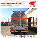 Remorque de camion-citerne aspirateur de combustible dérivé du pétrole d'alliage d'aluminium de 12 charrons