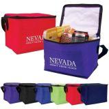 Le polyester met en boîte le sac plus frais isolé par déjeuner thermique d'aliments surgelés