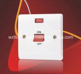 45A 1 Gang Double Pole Button Switch com Neon