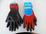 Polyester-Shell-Latex beschichteter Sicherheits-Arbeits-Handschuh (L1601)