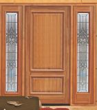 入口のガラス別荘のドア