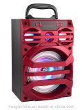 Altifalante de madeira Bluetooth Bluetooth de 6 polegadas com FM e luz