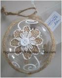 Het duidelijke Ornament van het Glas met Bloem voor de Gift van Kerstmis
