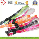 Printing LogoのCusom Clips Double Side Woven Lanyard