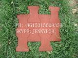 Azulejo de goma del patio al aire libre de la acera, azulejos de suelo de goma, estera del suelo